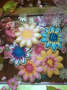 1 - 4 Dz Homemade Spring Flower Sugar Cookies - Jumbo 4 12