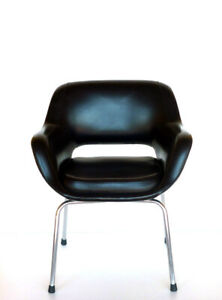 1960s by Cassina italian design black vintage chair armchair