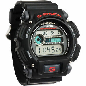 CASIO DW9052 1V Mens Classic G SHOCK Black Resin Digital Chronograph Sport Watch