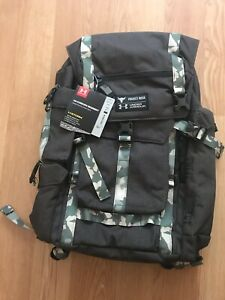 New Under Armour Project Rock Regiment Backpack Bag In CAMO RARE