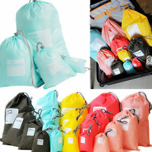Bags 4PCS Waterproof Clothes Travel Storage Packing Cube Luggage Organizer Pouch $5.98