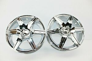 NEW PAIR SET OF 2X 08-12 CAN-AM SPYDER RS CHROME 14X5 FRONT WHEELS WHEEL