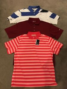 Lot Of 3 Nike Golf Dri-Fit Short Sleeve Polo Shirts Size X-Large
