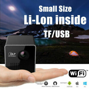 Mini Pocket Projector Bluetooth Android DLP WiFi HD 1080P Home Cinema Theater SD