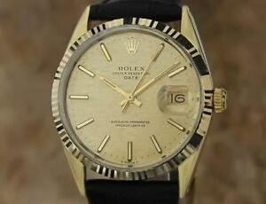 Rolex Vintage 1550 Swiss Made Men's 34mm 1970 Luxury Gold Cap Watch MA24