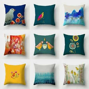 Cover Sofa Home Waist Pillow Throw Decor 18#x27;#x27; Case Polyester Cushion $2.56