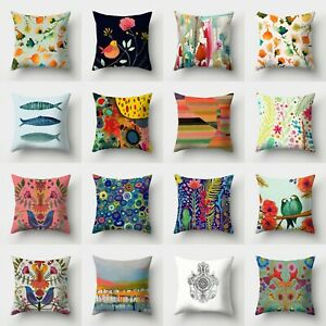 Sofa Polyester Home Cover Cushion Case Pillow Decor Waist 18#x27;#x27; Throw $2.56