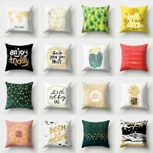 Home Waist Pillow Sofa Case Throw Decor Cover 18#x27;#x27; Polyester Cushion $2.56