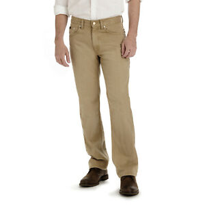 Lee Men's Premium Select Relaxed Fit Active Comfort Stretch Denim Jeans Tan NEW
