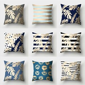 Sofa Throw Cover Home Waist Polyester Decor Pillow Case 18#x27;#x27; Cushion $2.56