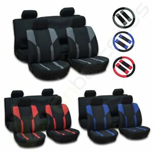 For 2000 2001 2002-2017 Honda Civic Mesh Cloth Car Seat Covers WHeadRest covers