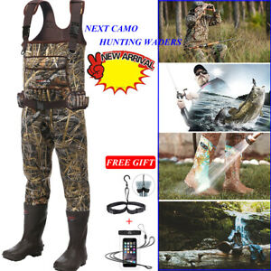 HISEA Neoprene Chest Wader Waterproof Insulated Rubber Boots for Hunting Fishing