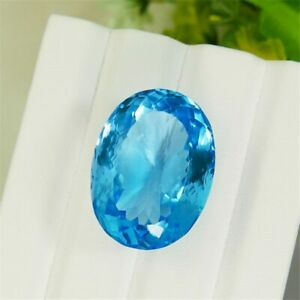 8.50 carat Natural 5A Grade Switzerland Vivid Blue Topaz Loose Stone Crystal