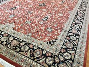 12x15 Rug Over size Pakistan Peshawar Oriental Area Rug black Rust