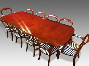 DESIGNER GEORGE III STYLE BRAZILIAN  MAHOGANY TABLE SET PRO FRENCH POLISHED