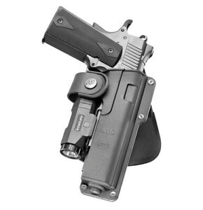 Fobus tactical 360 roto light laser holster with safety strap for colt 1911 5''