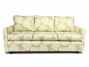 Made in USA Premium Quality Hardwood Queen Sofa Sleeper Bed Tropical Design