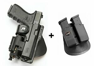 Fobus tactical Holster + Double magazine pouch for Glock 17 s&w m&p 9mm .40 .45