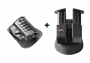 Fobus retention Holster + Double magazine mag pouch S&W M&P Shield .45cal