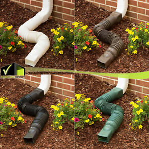 Expandable 25 55quot; Flex Drain Downspout Extension Rain Pipe Spout Gutter Flexible $13.96