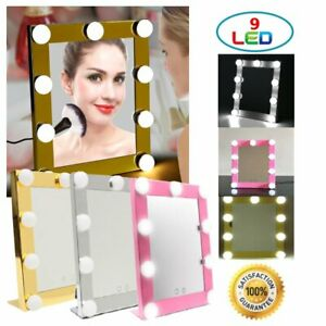 (LOT 1-100 PCS) 9 LED Bulb Makeup Mirror Cosmetic Touch Screen Dimmable Light MA