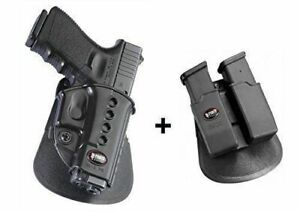 Fobus retention holster + Double magazine pouch glock 191722233132343541
