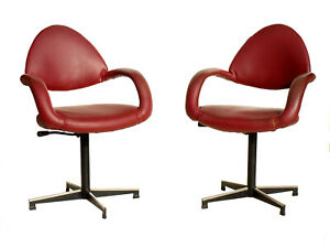 1950s by Gastone Rinaldi Rima Italian Design Midcentury 2 Desk Chairs