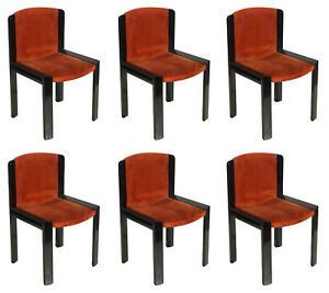 1960s Italian Design Model 300 Chairs by Joe Colombo for Pozzi Set of 6