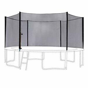 16FT Round Trampoline Outer Enclosure Safety Net with 12 Poles 6180-N016