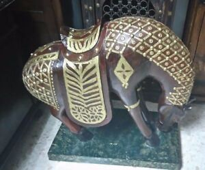 EXCLUSIVE PIECE.AL ANDALUS PALACE ORNAMENTAL BIG WOODEN HORSE MUSEUM