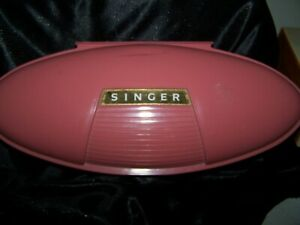Vintage Singer Button Hole For Use With Singer Machine in Mauve Case NICE $19.34