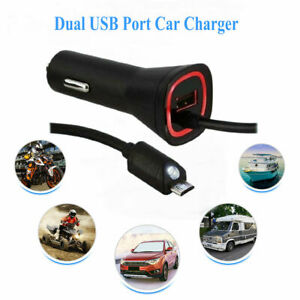 Powerful&Efficient Rapid Dual USB Port Car Charger Adapter For Mobile Phone LOT