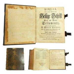 1776 Saur Gun Wad Bible -  Martin Luther Ed. (Germanstown PA)
