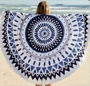 Round printed Summer 150x150cm Circle 7 Towel Beach For Large Styles Size
