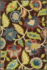 Contemporary Modern Bohemian Floral Indoor Outdoor Area Rug **FREE SHIPPING** $279.50