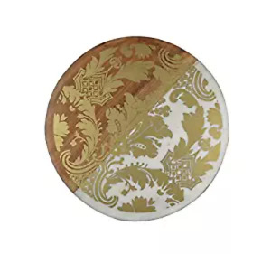 Thirstystone Marble & Wood Serving Board with Gold-Tone Brocade Design $84