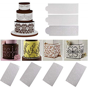 Wedding Cake Stencil Template Mold Benbo 7Pcs Cake Decorating Embossing Mould