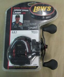 New LEW'S Jason Christie Speed Spool Laser LZR Baicasting Reel 7 Bearing 6.8:1
