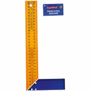 New 300mm Yellow Steel Square L Ruler 30cm Meauring Tool Diy Workshop Accessory GBP 3.33