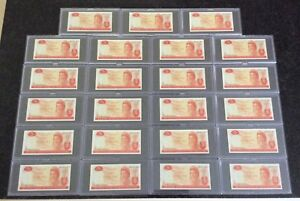 New Zealand Replacement Star $5 Hardie Banknotes 991 831978* to 991 832000* (23)