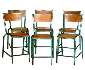 1930s Industrial Design Loft 6 Chairs