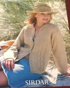 Sirdar 8417 Country Style Double Knitting Long Cardigan Jacket Knitting Pattern $6.00