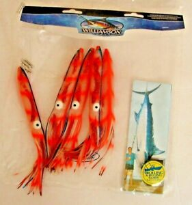 Williamson Bulb Squid Daisy Chain Teaser Fishing Tuna Marlin Trolling Lure