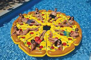 Inflatable Full Pizza(8 Pieces) Pool Inflatable Swimming Float Giant Ride  New