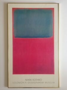 MARK ROTHKO RARE 1978 PACE EDITIONS LITHOGRAPH PRINT GUGGENHEIM FRAMED POSTER
