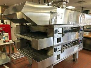 2013 Middleby Marshall Double Stack Conveyor Oven Model PS570G Nat Gas w Hood!