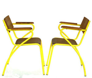 1950s industrial design columbus pair of chairs