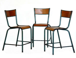1930s Industrial Design Loft Set of 3 Chairs