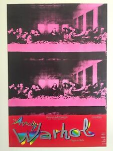 ANDY WARHOL RARE 1997 ORIGINAL VINTAGE ITALY LITHOGRAPH PRINT POSTER LAST SUPPER
