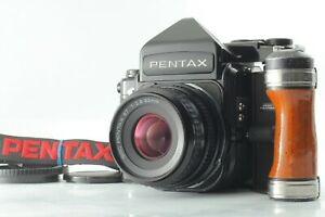 [EXC5] Pentax 67 TTL Late Model Camera + SMC P 90mm f2.8 Grip Strap from JAPAN